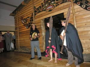 Joe, Tsimka and Mary Martin at the opening ceremony